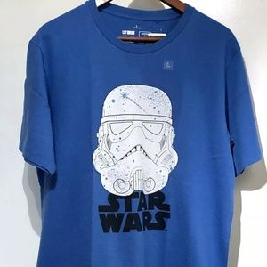 Uniqlo Star Wars Stormtrooper Blue S/S sz L
